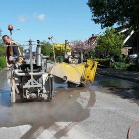 Jos & Jacco zagen het asfalt open voor Stam&Co in Dirkshoorn