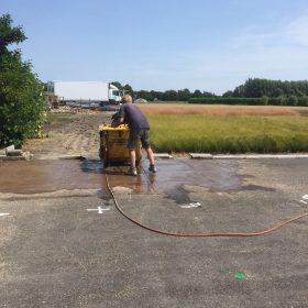 Johan 30m asfalt zagen voor Stam&Co.